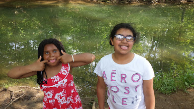 Photo: the girls make a silly picture