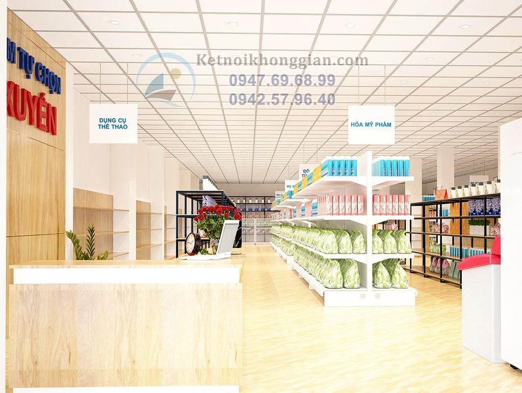 thiết kế siêu thị mini ấn tượng đầy phong cách