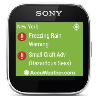 AccuWeather - Sony SmartWatch screenshot 3