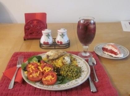 Serve the chicken on top of the rice.  Enjoy with a salad and...
