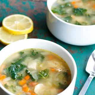 Clean Eating Lemon Chicken Quinoa Soup.