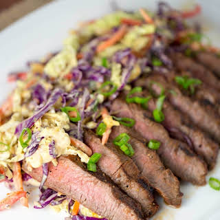 Family Style Marinated Grilled Flat Iron Steak.