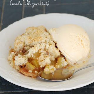 Unbelievable Mock Apple Crisp {Zucchini Cobbler}