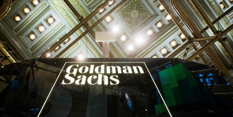 A Goldman Sachs sign above the New York Stock Exchange floor. Picture: REUTERS/LUCAS JACKSON