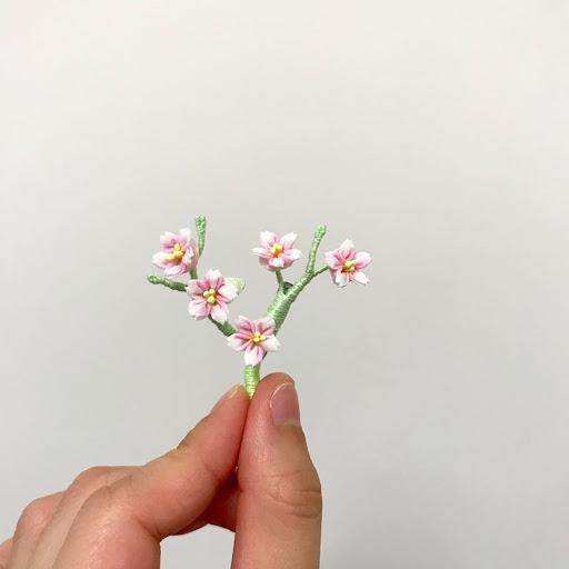 Floraspark 香港手作 | 手染布花 | 花耳環 | 頸鏈