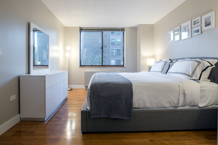 Bedroom at Upper West Side apartment