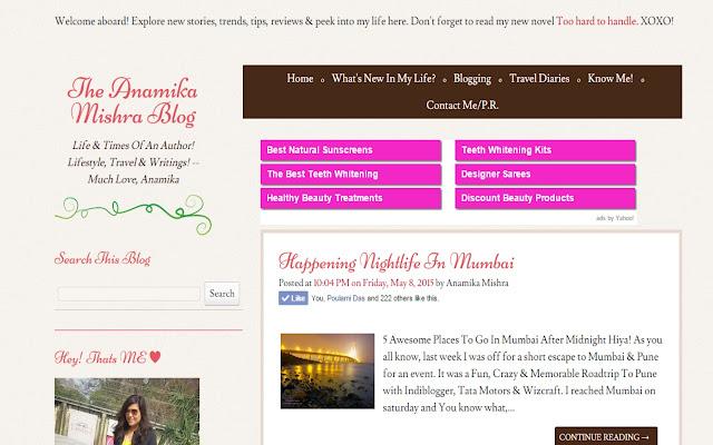 The Anamika Mishra Blog
