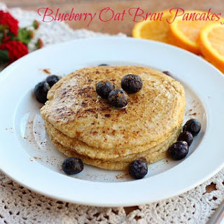 Blueberry Oat Bran Pancakes for One--Video.