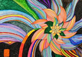 Photo: Tablou Flori abstracte 01 Tablou realizat de Maia Martin, artist plastic Tehnica: fineliner pens de 0,4 mm pe hârtie desen Inramate cu ramă plastic Hornbach  Preţ : 50 lei Nu mai este in stoc http://dekoratiuni.blogspot.ro/2014/04/tablou-flori-abstracte-01.html