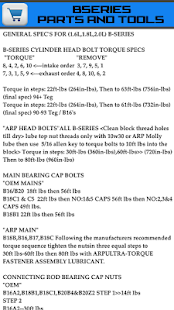 Torque Specs For Honda-Acura- screenshot thumbnail