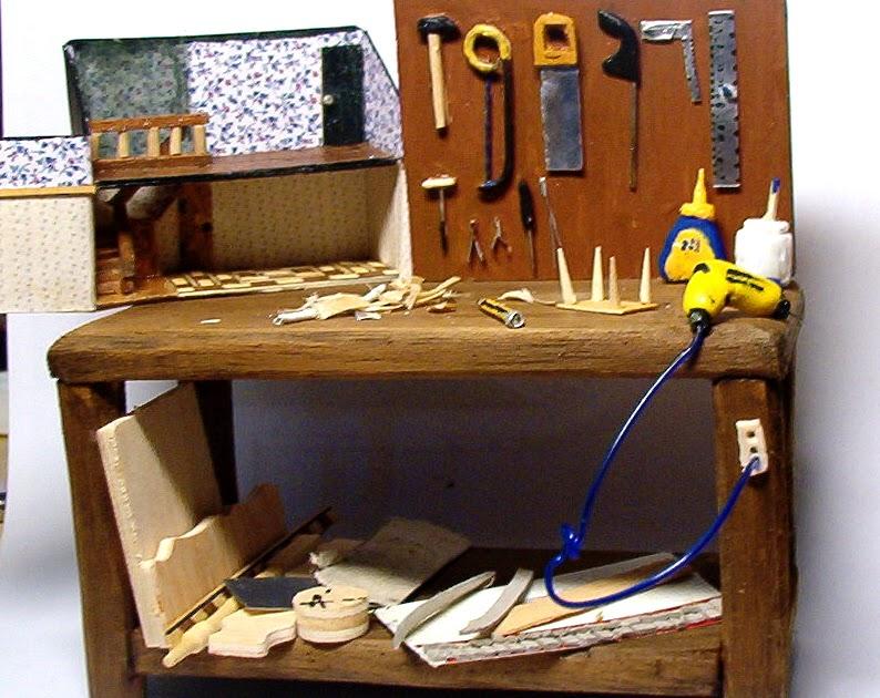 Casa de muñecas en miniatura muebles en escala 1//12 caseta de herramienta