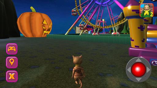 Halloween Cat Theme Park 3D screenshots 1