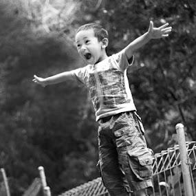 My Super Boy by Benyamin Kristiawan - Babies & Children Children Candids ( genesis, black and white, bw, children, boy )