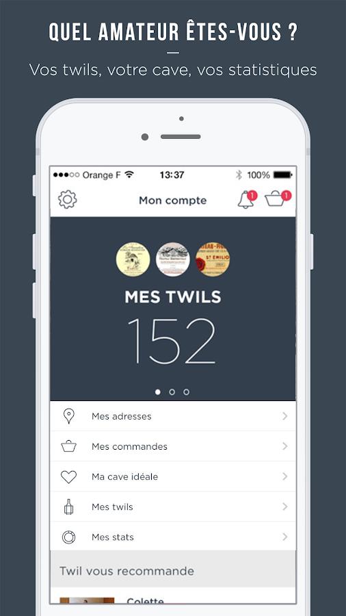 twil scan et achat de vins applications android sur google play. Black Bedroom Furniture Sets. Home Design Ideas