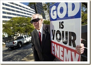 God is your enemy