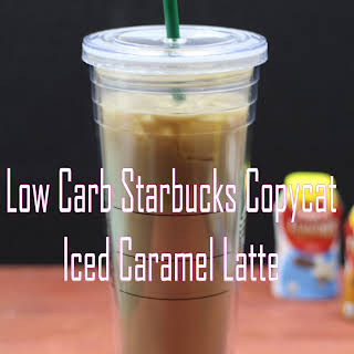 Low Carb Starbucks Copycat Iced Caramel Latte.