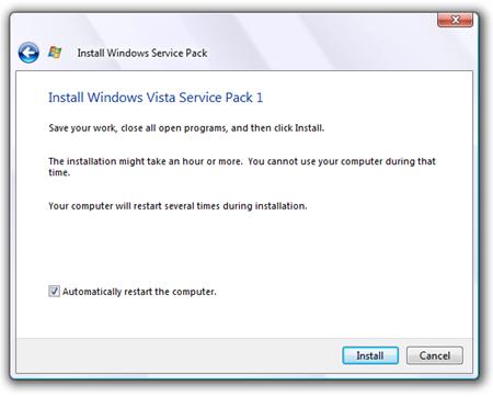 Determine If Vista Sp1 Installed