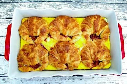 Click Here for Recipe: Croissant Breakfast Sandwich Casserole