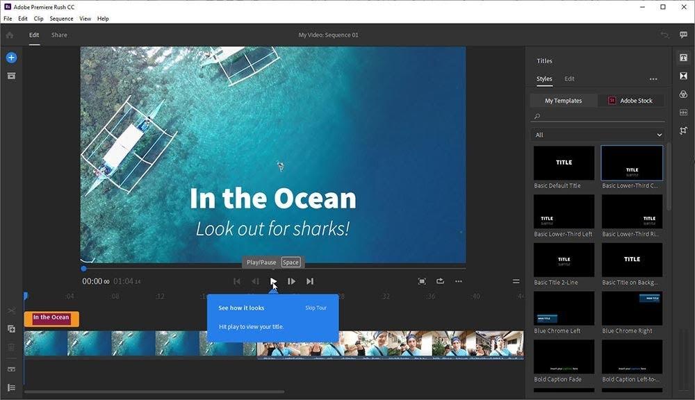 Adobe Premiere Rush cho Mac