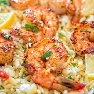 One Pot Orzo with Shrimp and Feta.