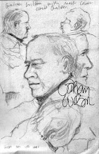 Photo: Gahan Wilson drawn at Circle Gallery in San Francisco 1991