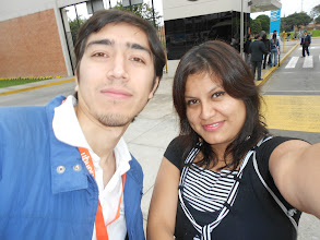 Photo: arriving to the university, with my friend and organizaer Cesar Montoya