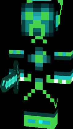Green Tron Creeper Nova Skin