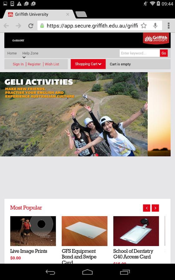 Griffith - screenshot