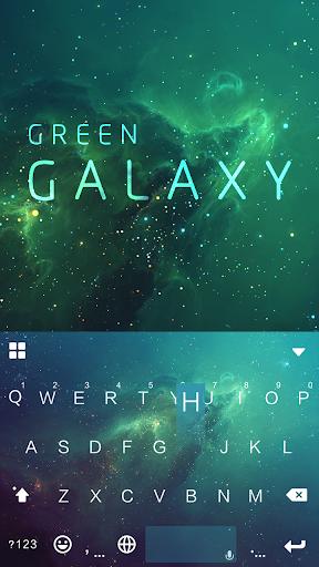 Green Galaxy KikaKeyboardTheme