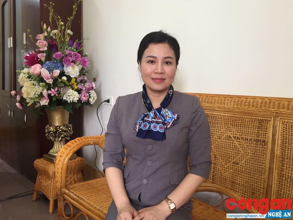 Bà Nguyễn Thị Thành An, Phó Giám đốc Sở Du lịch Nghệ An