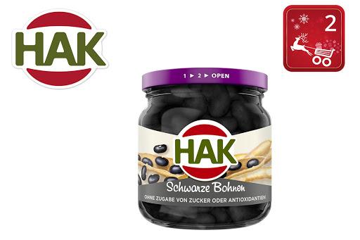 Bild für Cashback-Angebot: HAK Schwarze Bohnen im Glas - Hak