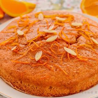 Orange Vegan Cake.
