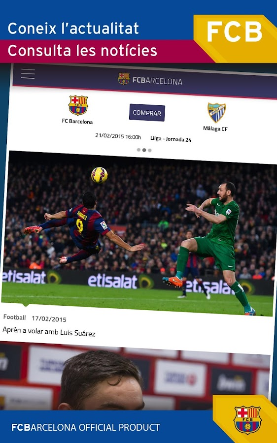 FC Barcelona Official App: captura de pantalla