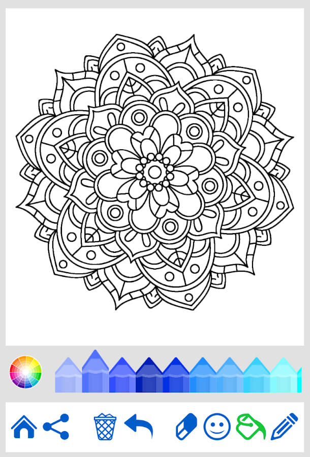 flowers mandala coloring book android apps on google play