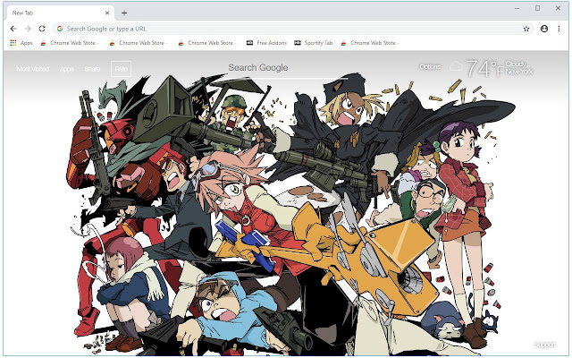 FLCL Alternative HD Wallpapers New Tab Themes