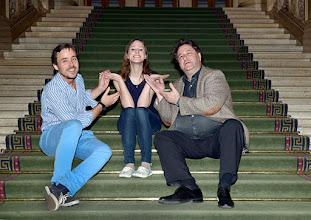 Photo: UNDINE an der Wiener Staatsoper/ Opernzelt. Dr. Johannes Wildner (Dirigent, Annika Gerhards (Titelrollensängerin), Alexander Medem (Regisseur). Foto: Barbara Zeininger.