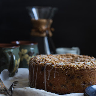 Blueberry Chocolate Chip Cake with Peanut Streusel