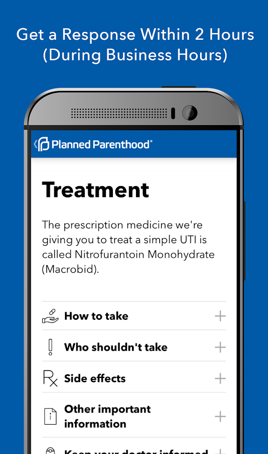 Planned Parenthood Direct - CA- screenshot