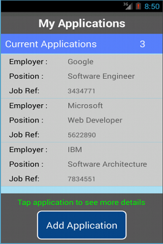 Job Application Manager- screenshot