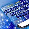 Neón azul GO tema del teclado icon