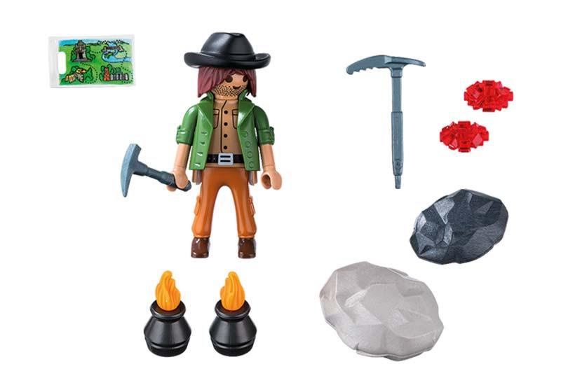Contenido real de Playmobil® 5384 Buscador de Gemas