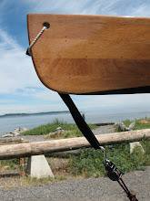 Photo: Day 6: A wooden canoe at North beach.