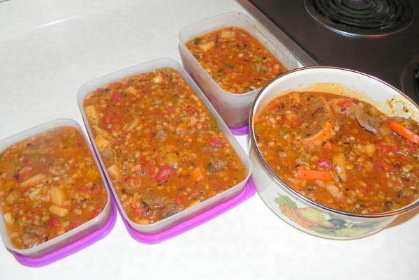 If you have any leftover then you can place in containers and freeze and...