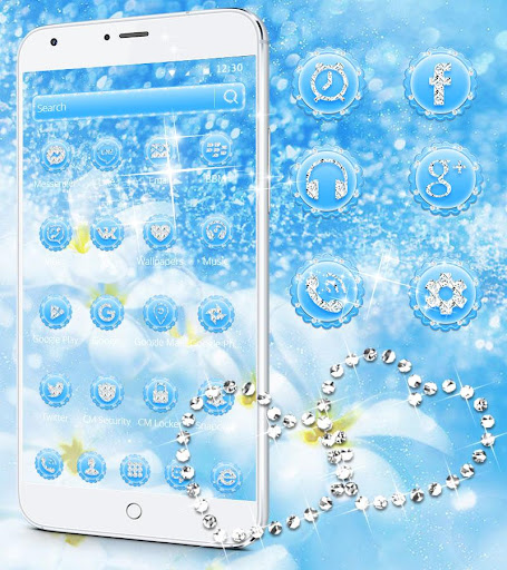 Blue Diamond Theme Wallpaper Glitter 1.1.3 2