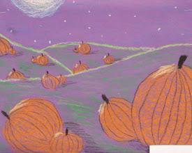 Photo: Pumpkins in moonlight Grade 4 and 5