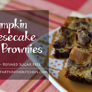 Grain Free Pumpkin Cheesecake Swirl Brownies