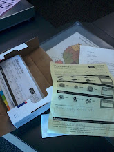 Photo: forms complete and everything ready to send.