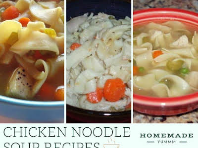 13 Homemade Chicken Noodle Soup Recipes