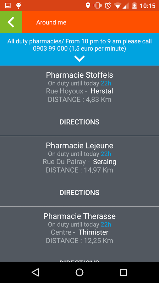 Pharmacie.be- screenshot