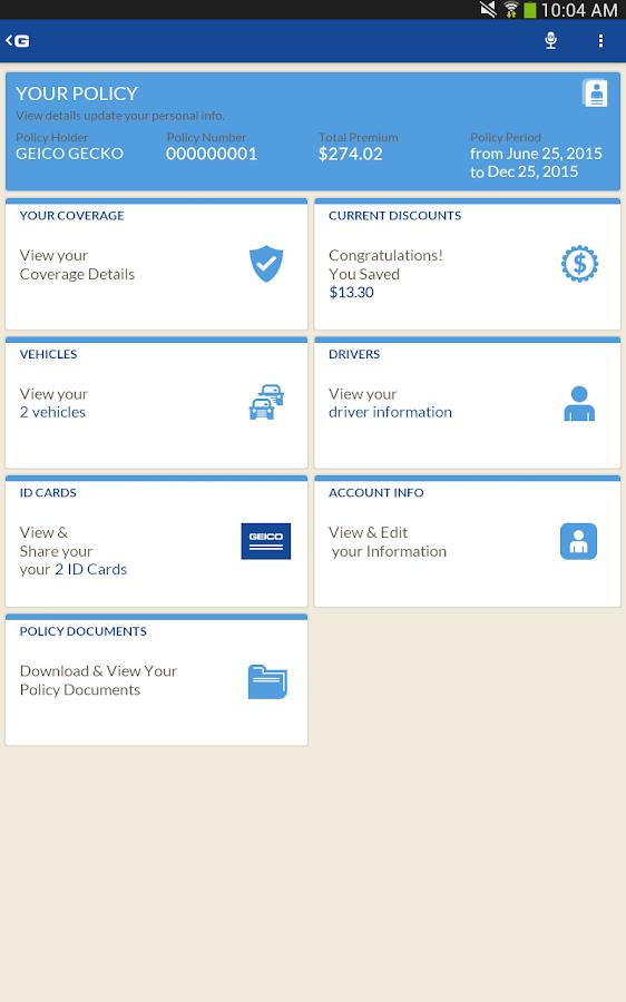 GEICO Mobile - screenshot
